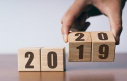2019 calendar flipping to 2020