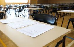 Desks ready for examination