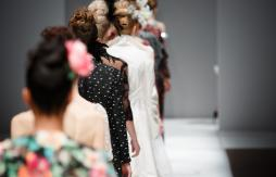 Backs of women catwalk