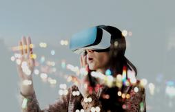 Image of woman using 3D vision