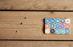 Social media icons lined up