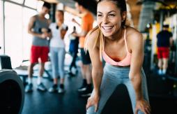 Girl smiling after exercise